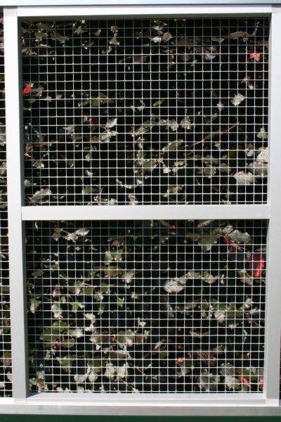 paneel brut geanodiseerd alu 102 x 200cm met draad 12,7x12.7mm