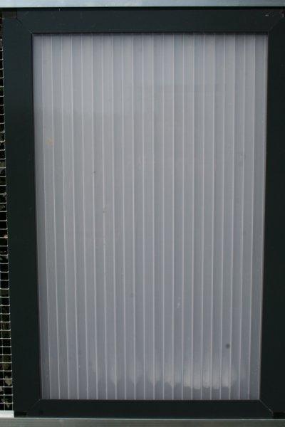 gesloten paneel 102x200cm in antraciet alu en polycarbonaat 16mm opaal