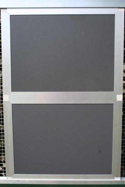 gesloten paneel 102x200cm in brut extra alu en antraciet trespa
