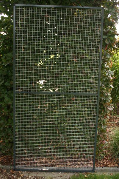 paneel antraciet  alu 102 x 200cm met draad 19 x 19 x 1,45mm