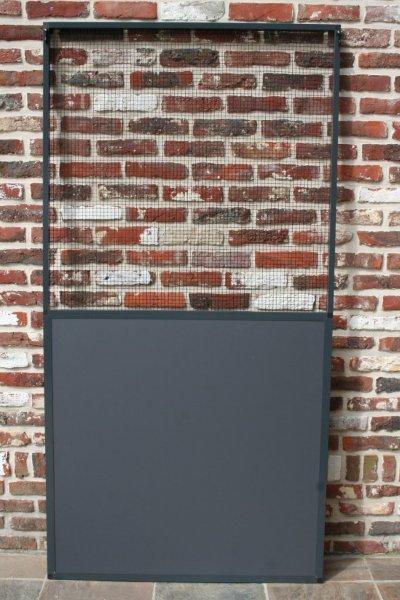paneel antraciet  alu met  onderaan vast paneel acp en bovenaan zwarte draad 13 x 13 mm