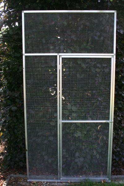 deurpaneel in brut alu 102x200cm met gaas 12,7x12,7 mm