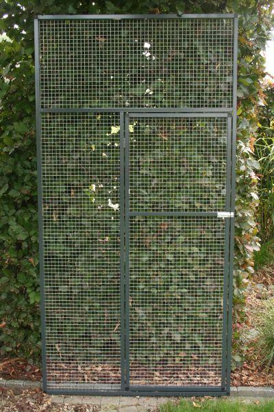 deurpaneel in antraciet 102x200cm met draad 19x19x1,45
