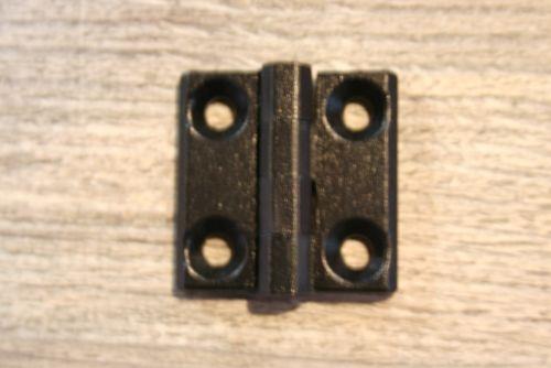 scharnier zwart metaal zware uitvoering