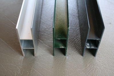 Hprofiel aluminium flens voor 16 mm polycarbonaat plaat