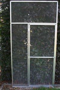deurkader in brut alu met draad 12,7 x 12,7mm