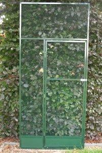deurpaneel in groen alu met morsrand
